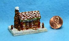 Dollhouse Miniature Winter Gingerbread House for Christmas ~ G3270