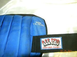 ALL PRO Single 10LB ADJUSTABLE ANKLE WEIGHT