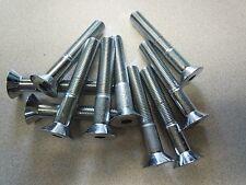 """3/8"""" x 2-1/2"""" ASTM F83 Hex Drive Chrome Finish Alloy Steel Flat Socket Cap Screw"""