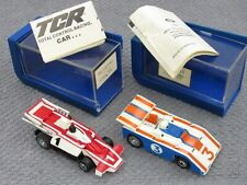 TCR TOTAL CONTROL RACING VINTAGE SLOTLESS CARS WITH JEWEL CASES