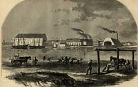 Washington navy yard military soldiers 1861 Harper's Civil War Print