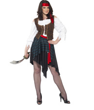 "BNWT ""Smiffy's"" PIRATE WOMAN Costume Size 2XL (UK 24-26) RRP £22.99"