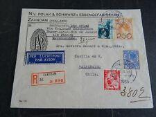 Nederland fraaie mengfrankering met 104 op aanget brief Zaandam - Valparaiso