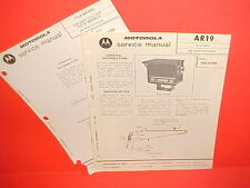 1972 MOTOROLA TRACTOR MANUAL CONTROL AM RADIO SERVICE SHOP REPAIR MANUAL TM107M