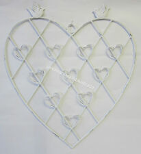 French Provincial Country Heart & Doves Holds 10 Photos or Cards Wedding Decor