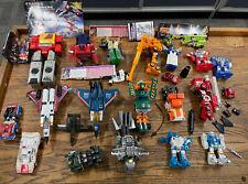 Vintage Hasbro G1 & G2 Transformers Huge Loose Figure Lot!!! Fliptrons 1980?s