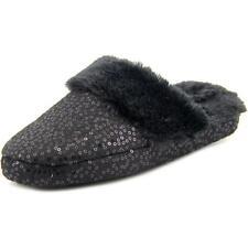 Zapatillas de andar planos de color principal negro de lona por casa de mujer