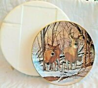 """Danbury Mint Collector Plate """"Afternoon Alert"""" Deer Friends of The Forest"""