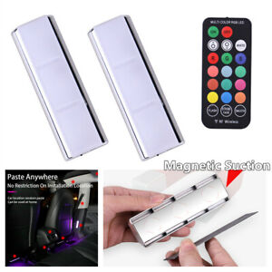 Wireless Remote RGB LED Car Interior Atmosphere Ambient Light Lamp Accessories