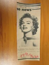 Vintage AP Wire Press Photo Actress Marilyn Monroe, Some Like it Hot, Misfits #7