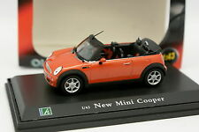 Cararama oliex 1/43 - Mini Cooper cabriolet Naranja (pic nic)