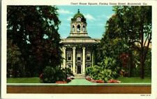 1930'S. COURT HOUSE SQUARE. BRUNSWICK, GA. POSTCARD. SZ4