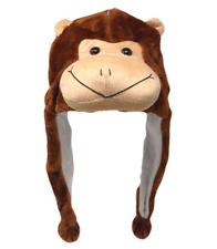 Plush Fun Animal Beanie Hat - One Size - Polyester w/ Fleece Lining - MONKEY