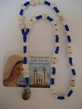St.Michael the Archangel Rosary with  Virgin Mary medal from Medjugorje stone