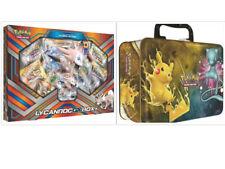 Pokemon Lycanroc GX Collection Box & Shining Legends Collectors Chest Tin Bundle