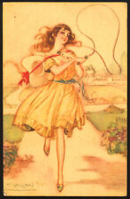cartolina d'epoca-post card-illustratore  MAUZAN-DONNINE,WOMAN,LADY DECO' 3