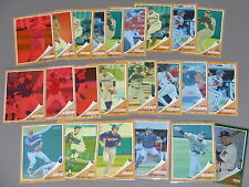 (23) 2011 Topps Heritage Green/Red/Blue Tint Variation Lot 1962 style #d/620