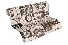"33480-3) Papier Tapete Cafe American Diner ""Simply Decor"" beige creme braun"