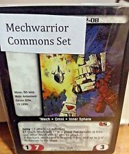 BATTLETECH CCG MECHWARRIOR COMMONS SET  TCG
