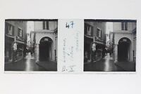 Suisse Lugano Vecchio Quartiere Foto Stereo T2L9n39 Placca Da Lente Vintage