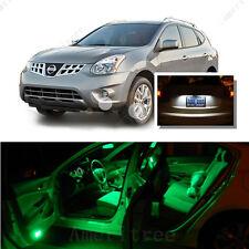 For Nissan Rogue 2008-2013 Green LED Interior Kit +Xenon White License Light LED
