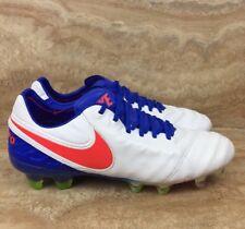 Nike Tiempo Legend VI FG Firm-Ground Women's Soccer Cleats White Blue Crimson