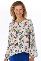 twist & tango - Hillary Bluse Damen weiß Oberteil Blumenmuster leger Neu: 89 €