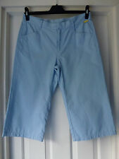 Mambo ladies unusual Pale blue 3/4 length trousers size 12 100% cotton