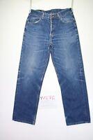 Lee Chicago (Cod. Y1276) tg47 W33 L32 jeans vita alta usato vintage Streetwear