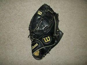 "Wilson A2000 Pro Stock Black Leather L 12"" Right Hand Throw Baseball Glove Mitt"