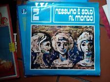 """LP 12"""" NESSUNO E' SOLO AL MONDO 2 EDIZIONI PAOLINE TOMBOLATO DI MARIO EX++/NMINT"""