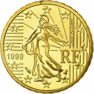 [#753846] France, 10 Euro Cent, 1999, Proof, FDC, Laiton, KM:1285