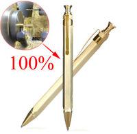 Brass Handmade Hexagonal Press Pen Outdoor Tactical Self-defense Write Pen