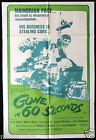 GONE IN 60 SECONDS Vintage One Sheet Movie poster Car Stealing H.B.Halicki