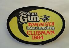 SPORTING GUN WINCHESTER  CLUBMAN 1984 CLOTH PATCH --HUNTING-SHOOTING