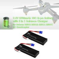 2PCS 7.4V 2700mAh 25Wh Li-Po Battery For Hubsan H501S H501A X4 Quadcopter Drone