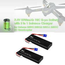 2PCS 7.4V 2700mAh 10C 20Wh Batería Lipo para RC avión teledirigido cuadricóptero Hubsan H501S X4