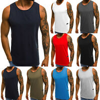Mens Muscle Solid Tank Tops Shirts Sleeveless Gym Sports Workout Casual A-Shirt