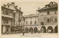 Cartolina di Domodossola, teatro e pasticceria - Verbania, 1933