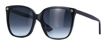 *NEW AUTHENTIC* GUCCI GG0022S 001 BLACK FRAME, GREY GRADIENT LENS, SIZE 57mm
