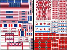 US British French Japanese Russian German WWII Naval Ensign Decals 1/35 1/48 72