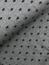 Bündchenstoff  Schlauch Meterware Muster Federn anthrazit ab 50cm
