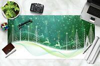 3D Schneeflocke H907 Christmas Rutschfest Schreibtisch Matte Tastatur Pad Amy