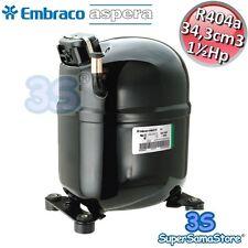3S NUOVO MOTORE Compressore R404A 1½ Hp LBP 34,3 cm3 Embraco Aspera NJ2212GK New