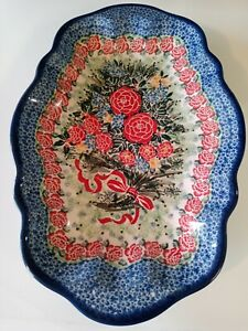 """CA Unikat """"Legend of the Christmas Rose"""" Special Edition Serving Tray Platter"""