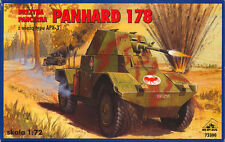 PANHARD 178 ARMOURED CAR W/APX-3 TURRET (FRENCH ARMY 1940 MKGS) 1/72 RPM  RARE!