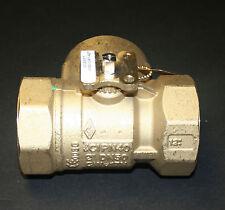 "JOHNSON CONTROLS VG1841FT 2"" 3W BALL VALVE 73.7 CV BRASS TRIM HVAC - NEW"