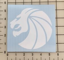 """Seven Lions Logo 5"""" Wide White Vinyl Decal Sticker - Free Shipping"""
