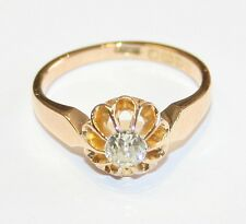 Antique 18ct Gold 0.33cts Diamond Solitaire Engagement Ring Circa 1910/11 size M