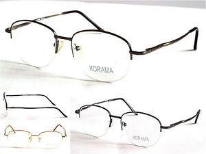 KRA016 Transitions Progressive Multifocals Reading Glasses Half Rimless Frames